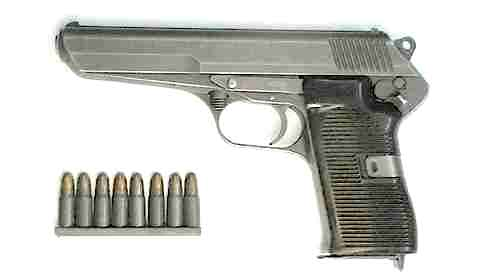 ...участниц Варшавского договора советский патрон 7.62мм ТТ, пистолет построен по редкой (для пистолетов) схеме с...