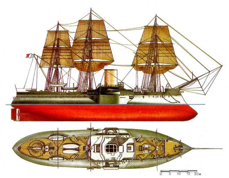 Броненосец redoutable франция 1873 г