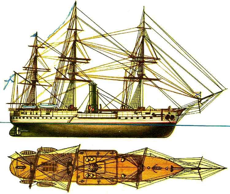 Рисунок корабль своими руками