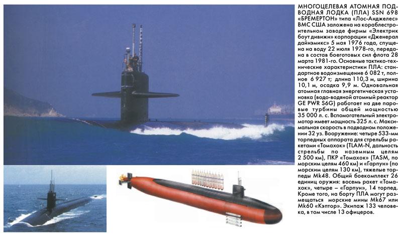 многоцелевые подводные лодки атомные